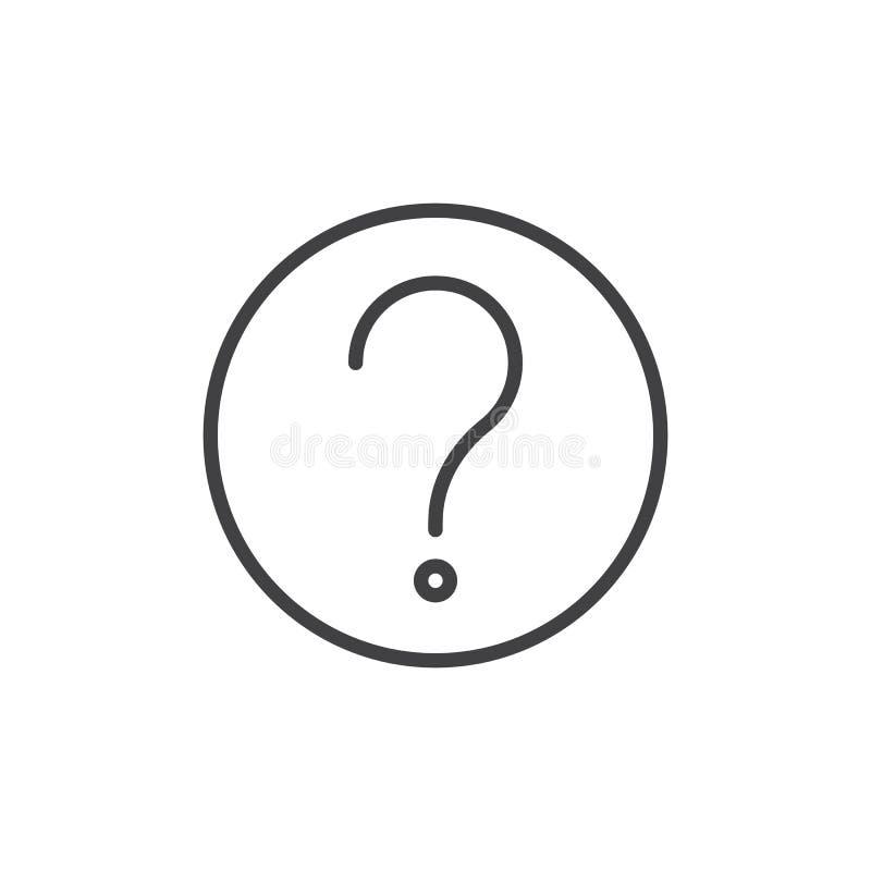 Znak zapytania kreskowa ikona ilustracji
