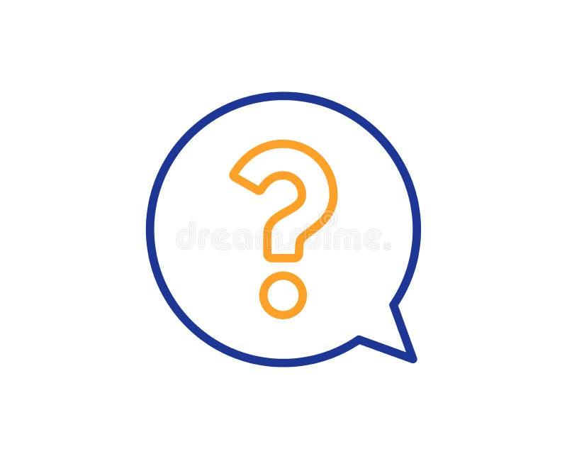Znak zapytania kreskowa ikona Pomocy mowy bąbel wektor royalty ilustracja