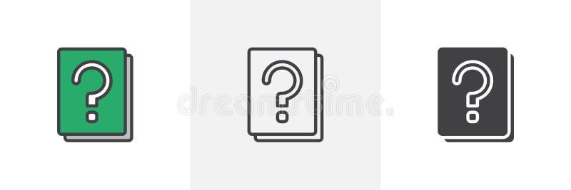Znak zapytania książkowa ikona ilustracji