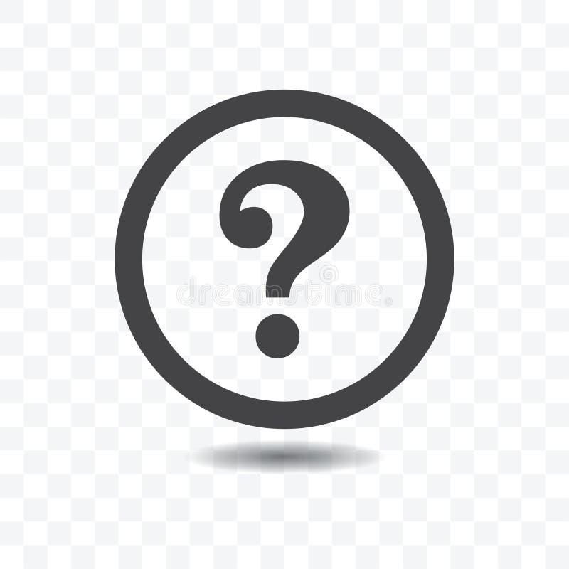 Znak zapytania sylwetki ikona ilustracja wektor