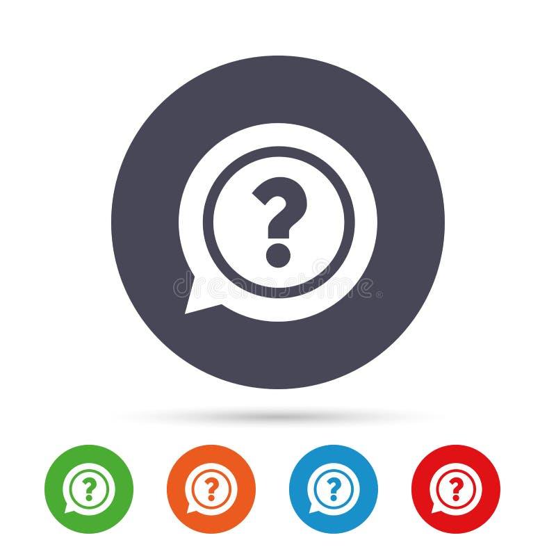 Znak zapytania szyldowa ikona Pomoc symbol ilustracji