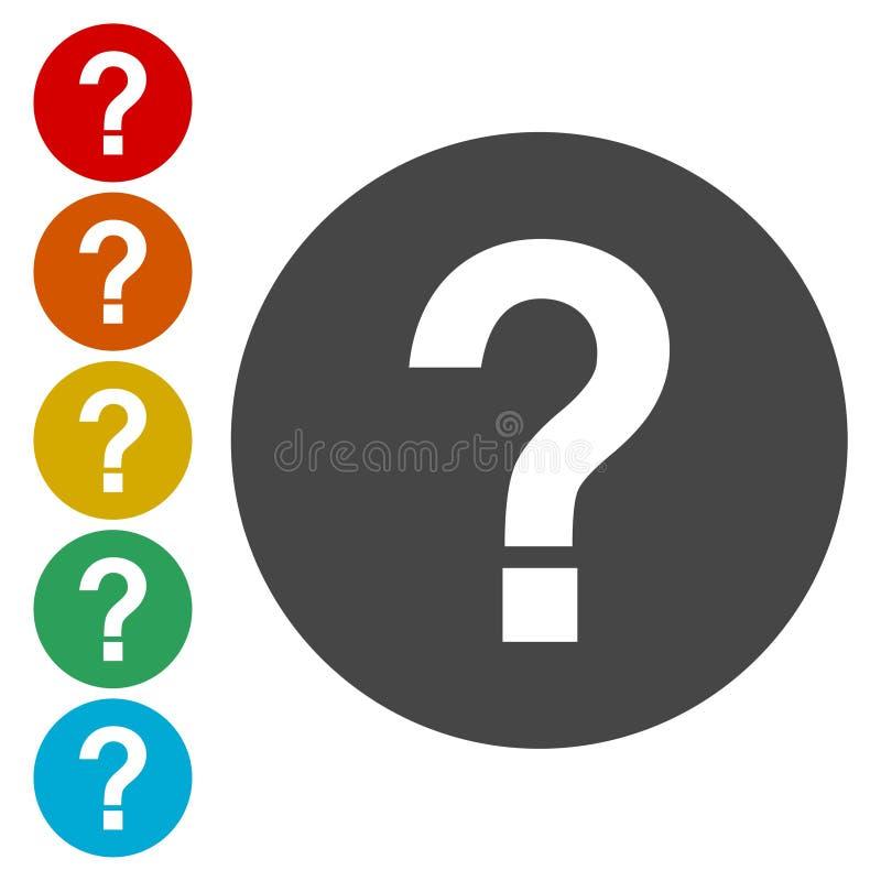 Znak zapytania szyldowa ikona Pomoc symbol FAQ znak ilustracji