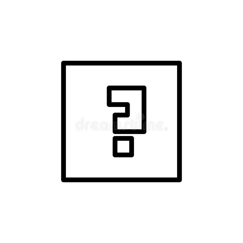 znak zapytania w kwadratowej ikonie Element prosta ikona dla stron internetowych, sieć projekt, wisząca ozdoba app, ewidencyjne g ilustracji