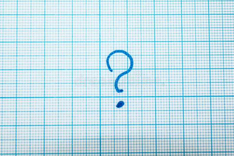 Znak zapytania w notatniku obrazy royalty free