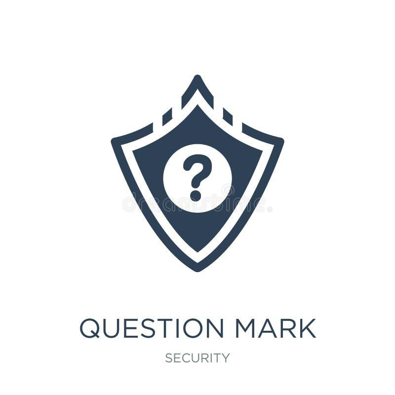 znak zapytania w osłony ikonie w modnym projekta stylu znak zapytania w osłony ikonie odizolowywającej na białym tle oceny pytani royalty ilustracja