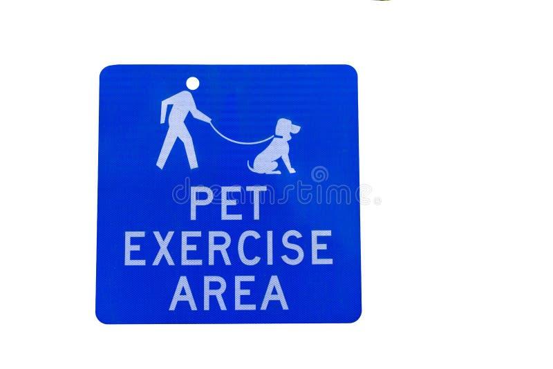 Znak, zwierzęcia domowego ćwiczenia teren obraz royalty free