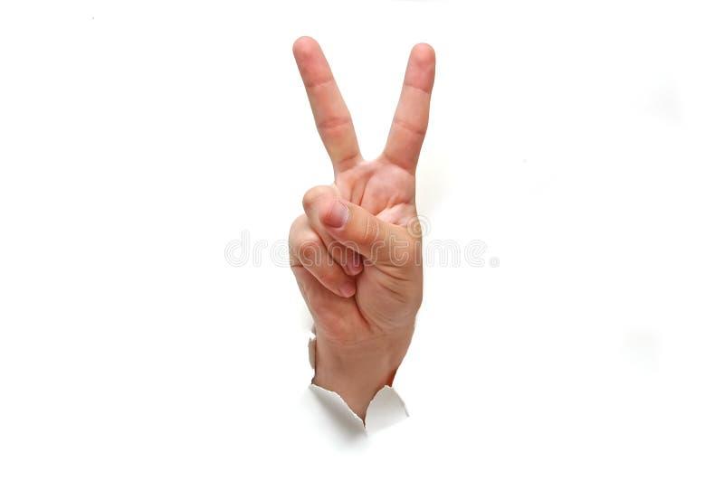znak zwycięstwa ręce zdjęcia royalty free