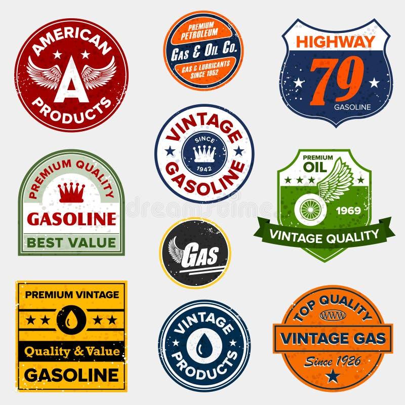 znaka benzynowy retro rocznik