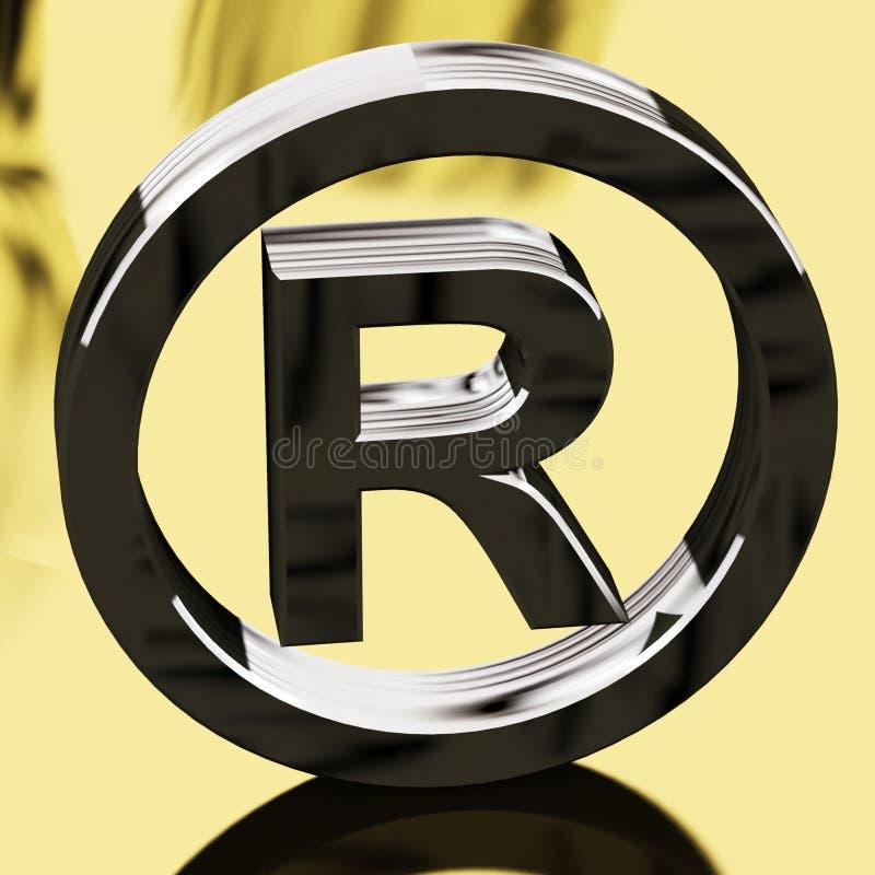znaka patentowany rejestrowy target1891_0_ srebro royalty ilustracja