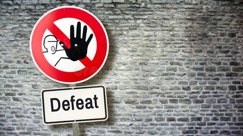 Znaka Ulicznego zwycięstwo versus porażka obrazy royalty free