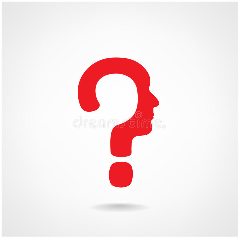 Znaka zapytania mężczyzna głowy znak royalty ilustracja