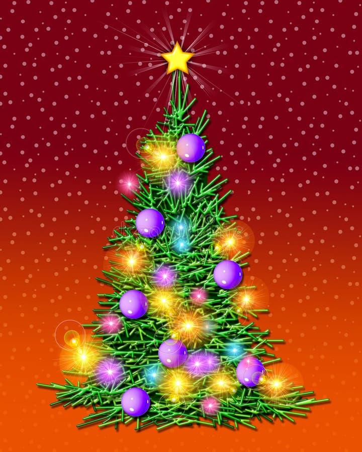 znaki świetlne świątecznej drzewo ilustracji