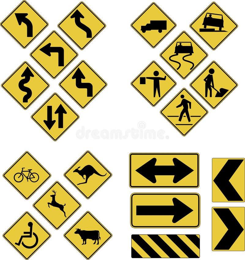 znaki drogowe royalty ilustracja