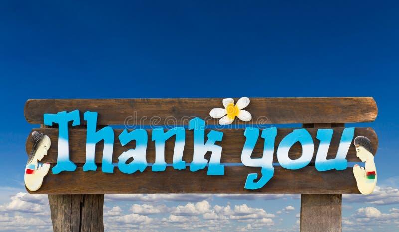 Znaki Dziękują was obrazy royalty free