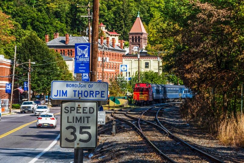 Znaki Jim Thorpe obraz stock