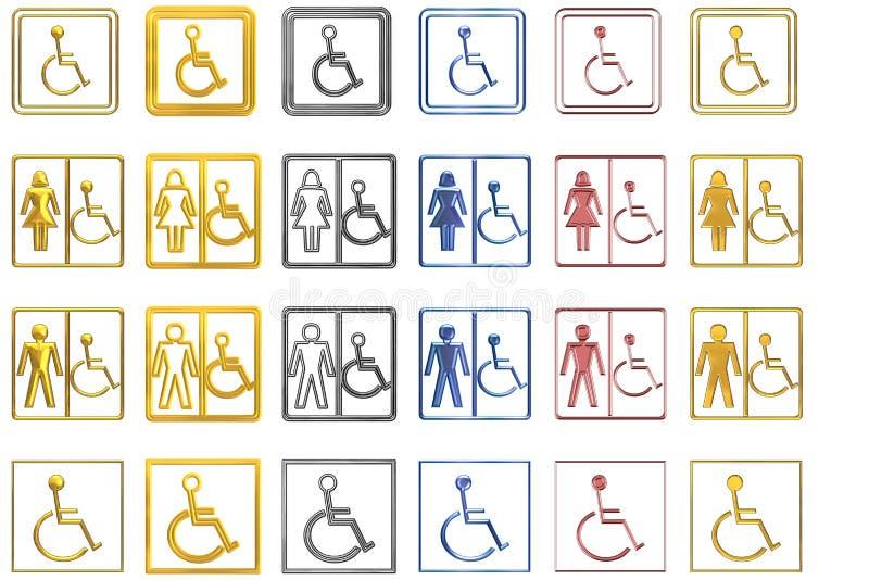 znaki niepełnosprawnych royalty ilustracja