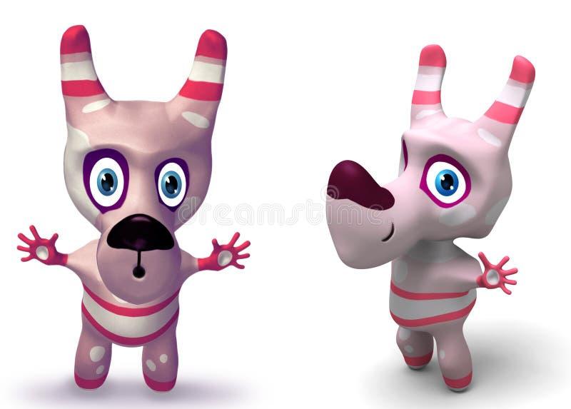 znaki psa zabawki 3 d royalty ilustracja
