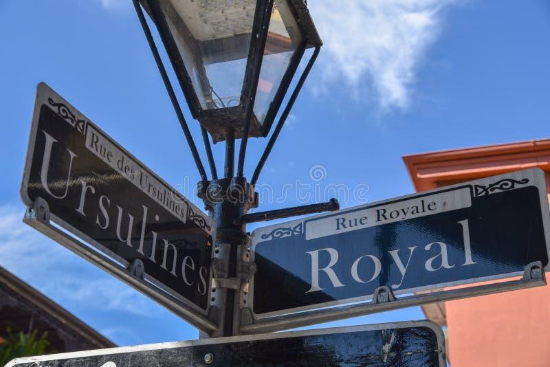 Znaki uliczni w Nowy Orlean (usa fotografia royalty free
