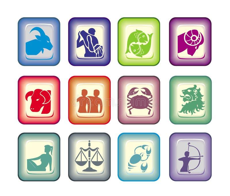 znaki vector zodiaka royalty ilustracja