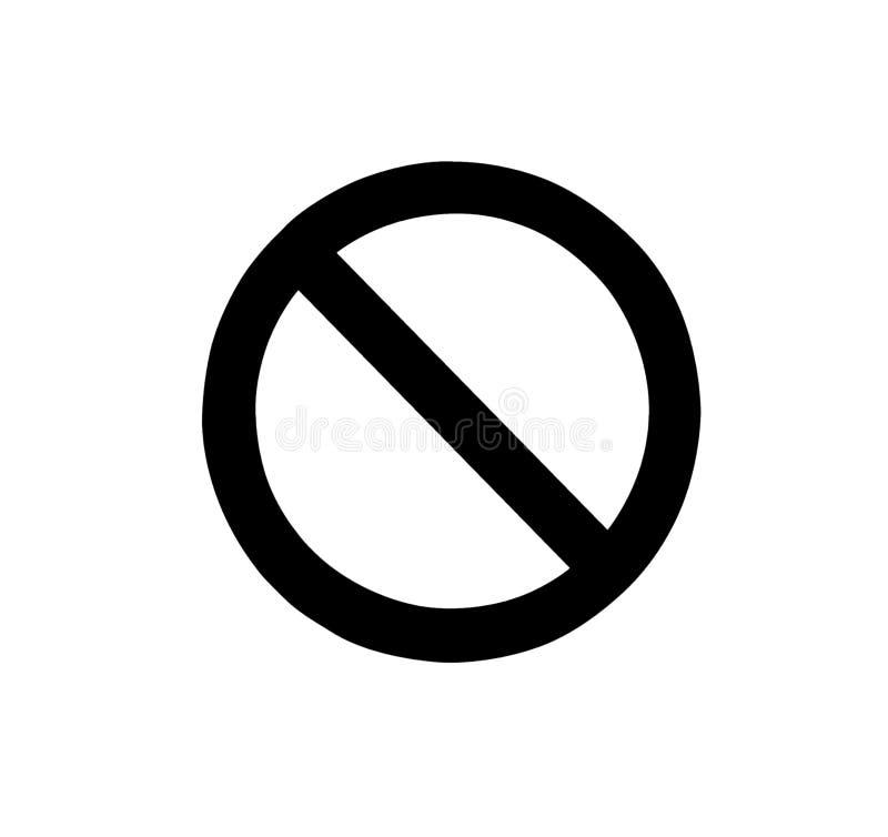 Znaki zabrania czerń ilustracja wektor