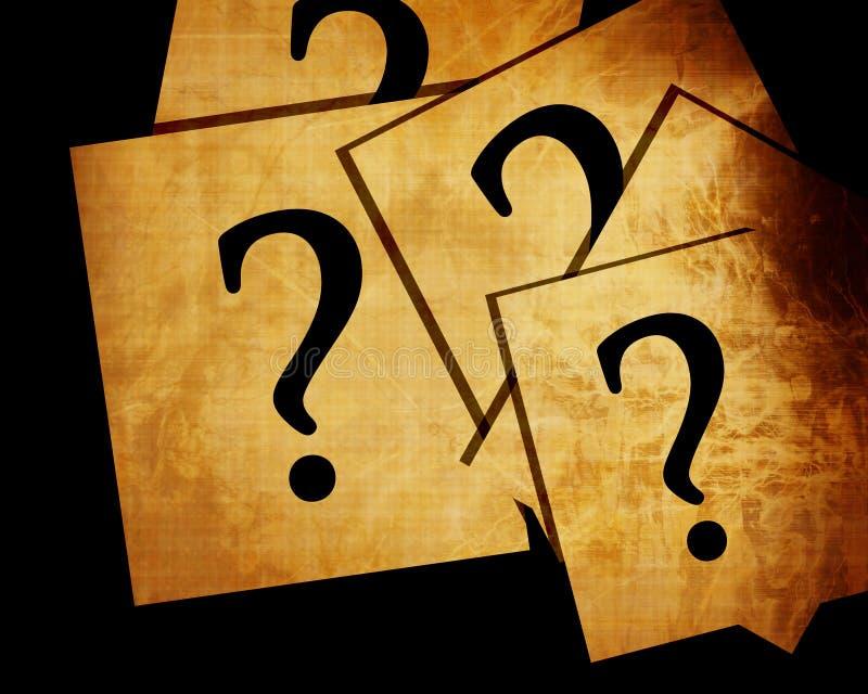 Znaki zapytania ilustracja wektor
