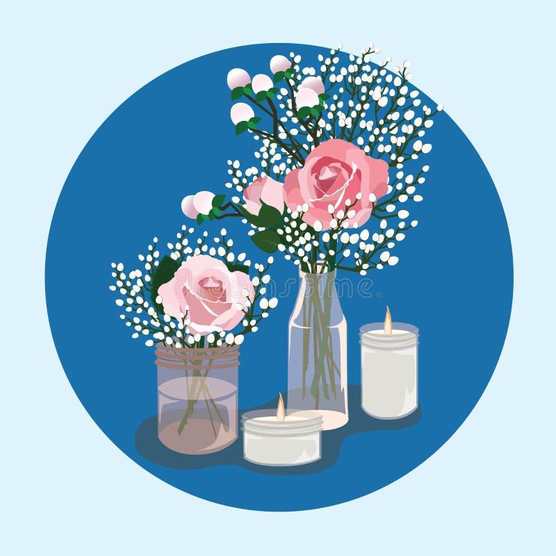 ZNAKOMICI ślubu stołu dekoracji pomysły ilustracji