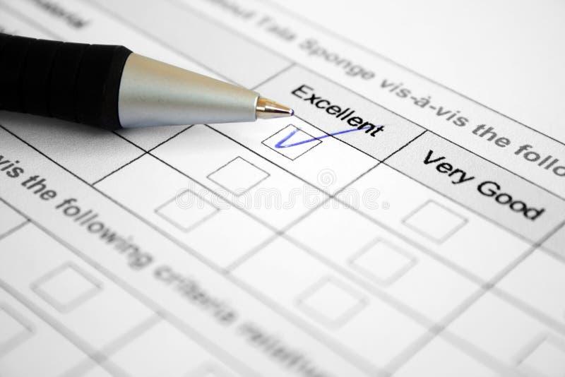 znakomita formularzowa ankieta zdjęcia stock
