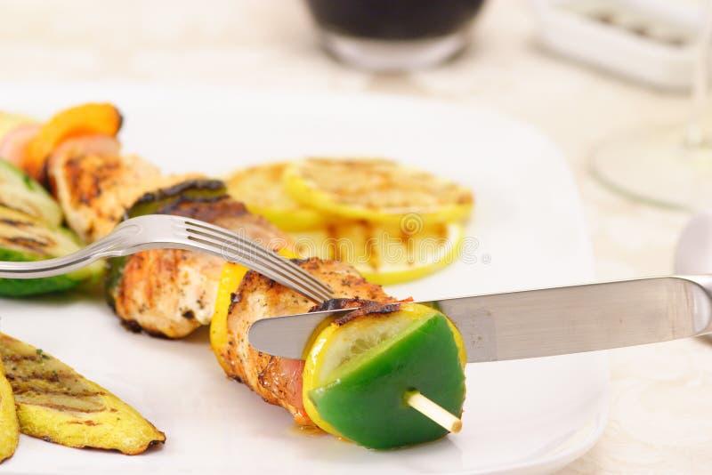 znakomita kebab shish zdjęcia royalty free