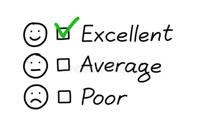 Znakomita klient ankieta ilustracja wektor