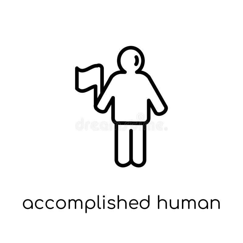 znakomita ludzka ikona Modny nowożytny płaski liniowy wektorowy accomp royalty ilustracja