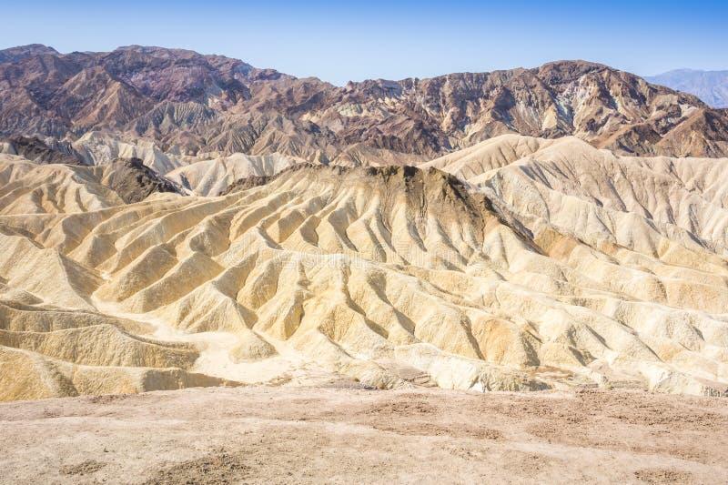Znakomity Zabriskie punkt, Śmiertelna dolina, Kalifornia, usa obraz stock