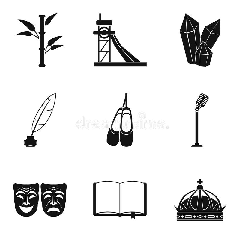 Znalezienie ikony ustawiać, prosty styl ilustracji