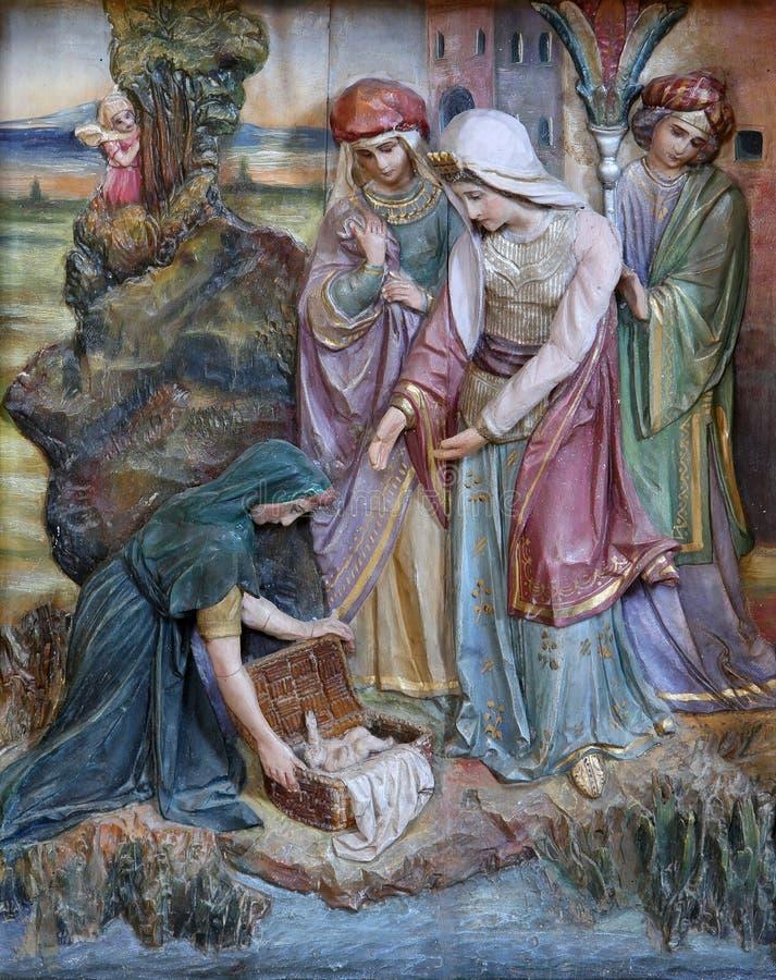 Znalezienie Mojżesz obraz stock