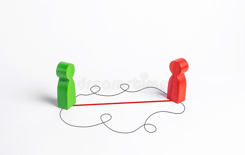 Znalezienie najlepszego sposobu kontaktu i przekonania innej osoby Oratorskie i samoufne umiejętności komunikacyjne obrazy stock