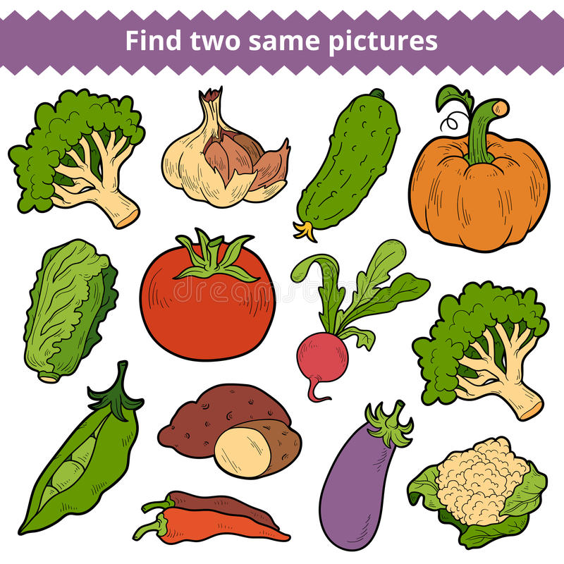 Znalezisko dwa to samo obrazki eps format ustawia dostarczonych wektorowych warzywa royalty ilustracja