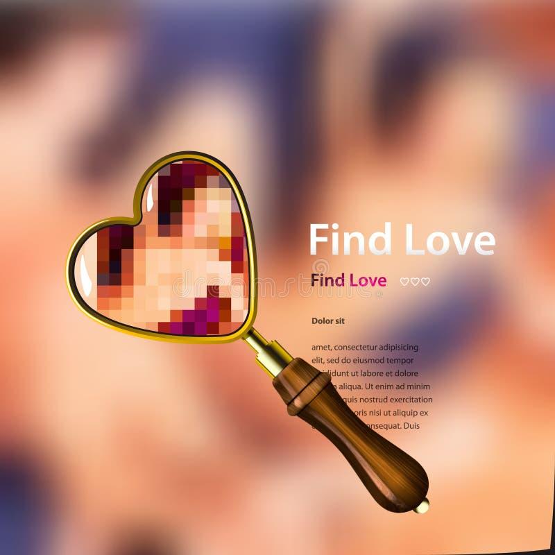 Znalezisko miłość, wektorowa ilustracja. royalty ilustracja