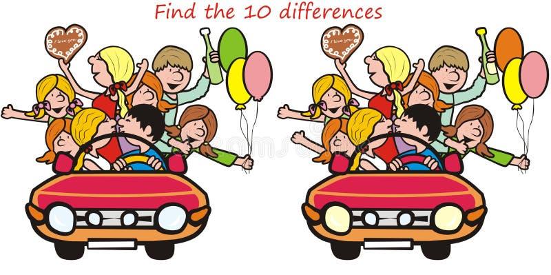 Znalezisko 10 różnic ilustracja wektor