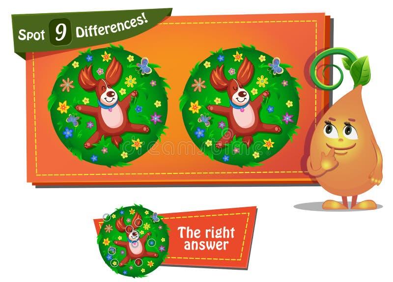 Znalezisko 9 różnic dog2 ilustracji