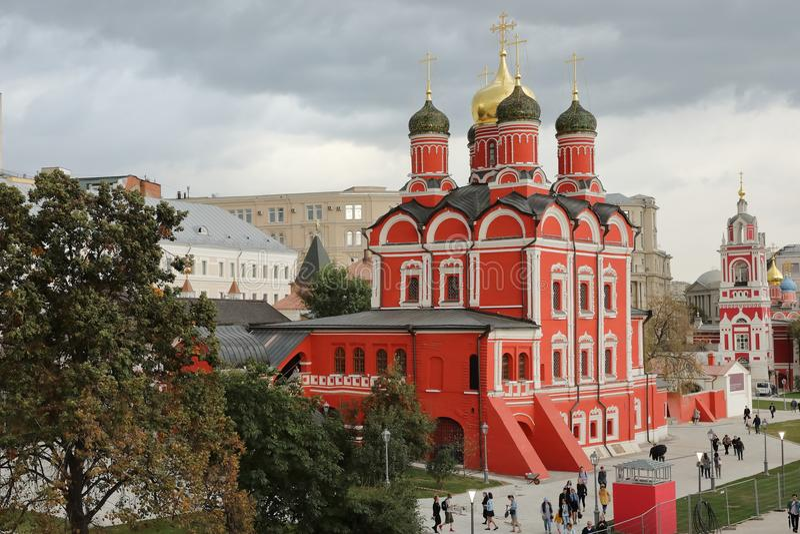 Znamensky Cathedral the main temple of the Znamensky Monastery royalty free stock photo