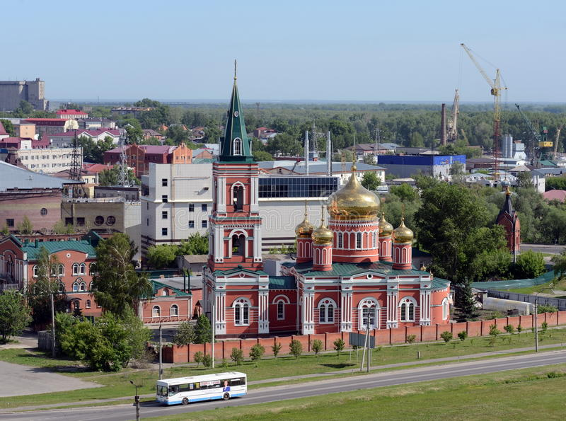 Znamensky nunnery of the Barnaul diocese of the Russian Orthodox Church. stock image