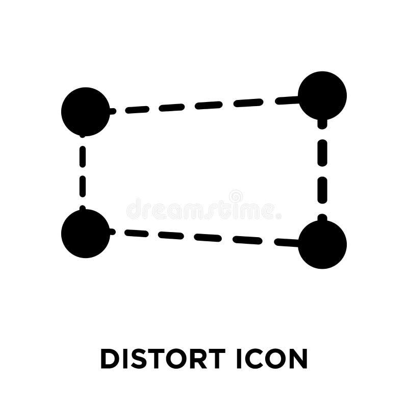Zniekształca ikona wektor odizolowywającego na białym tle, loga pojęcie o ilustracja wektor