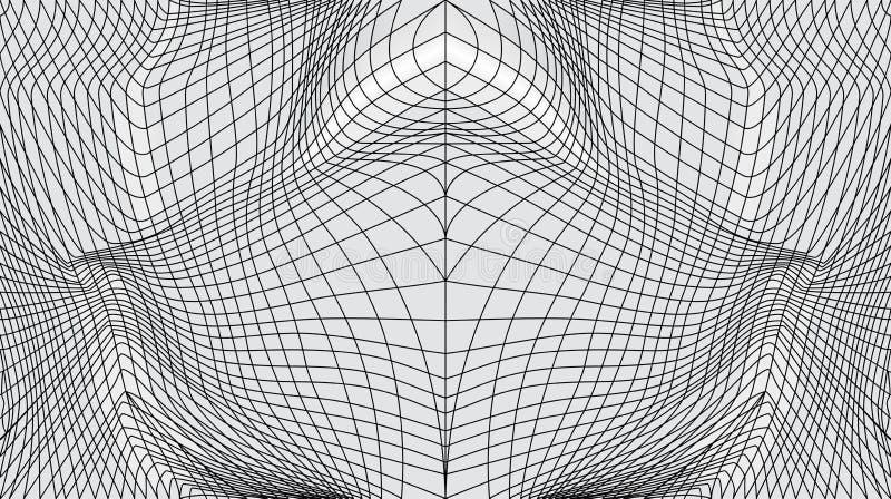 Zniekształcająca powierzchnia ilustracja wektor