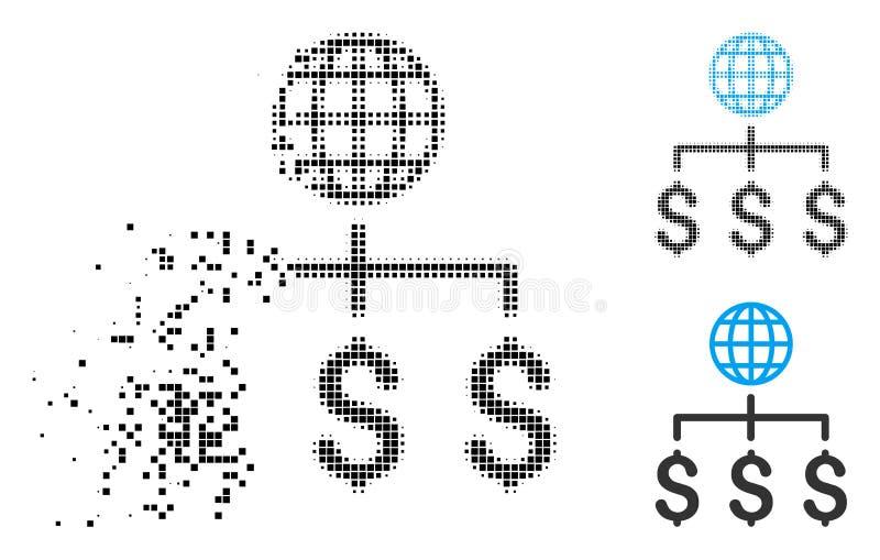 Znikać kropki Halftone zapłat Globalną ikonę ilustracja wektor