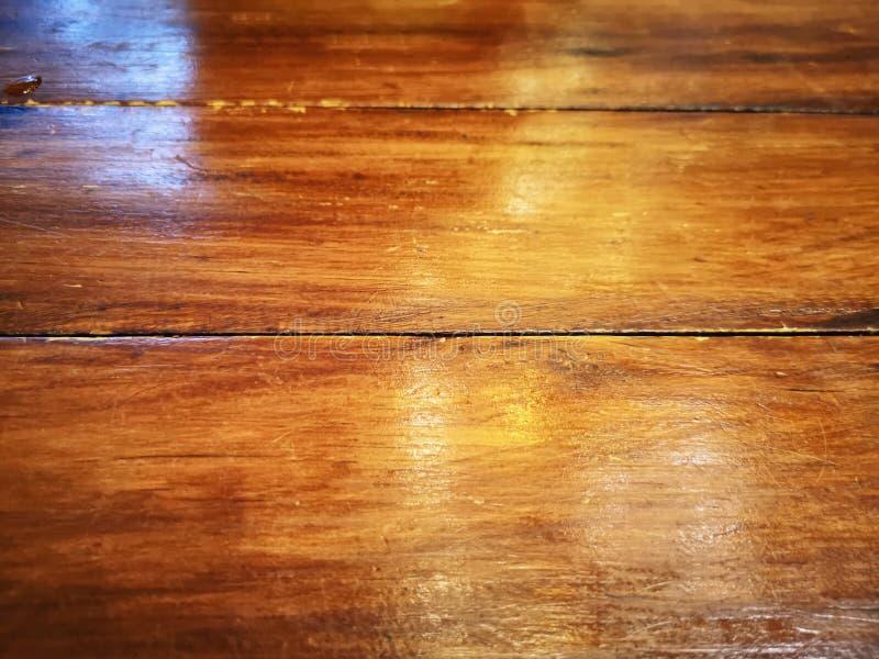 Znikający Drewniany deska stołu tekstury tło z Selekcyjną ostrością obraz royalty free