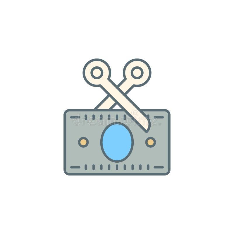 zniszczenie kredytowej karty półmroku stylu linii ikona Element bankowości ikona dla mobilnych pojęcia i sieci apps Półmroku styl royalty ilustracja
