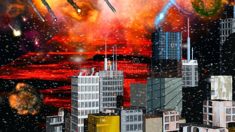 zniszczenie nowy York ilustracja wektor