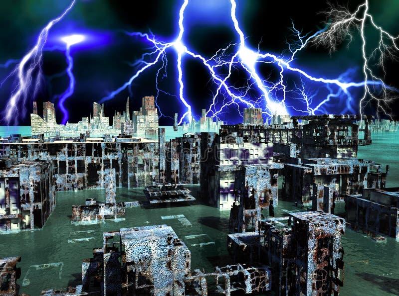 Zniszczenie w Nowy Jork ilustracja wektor