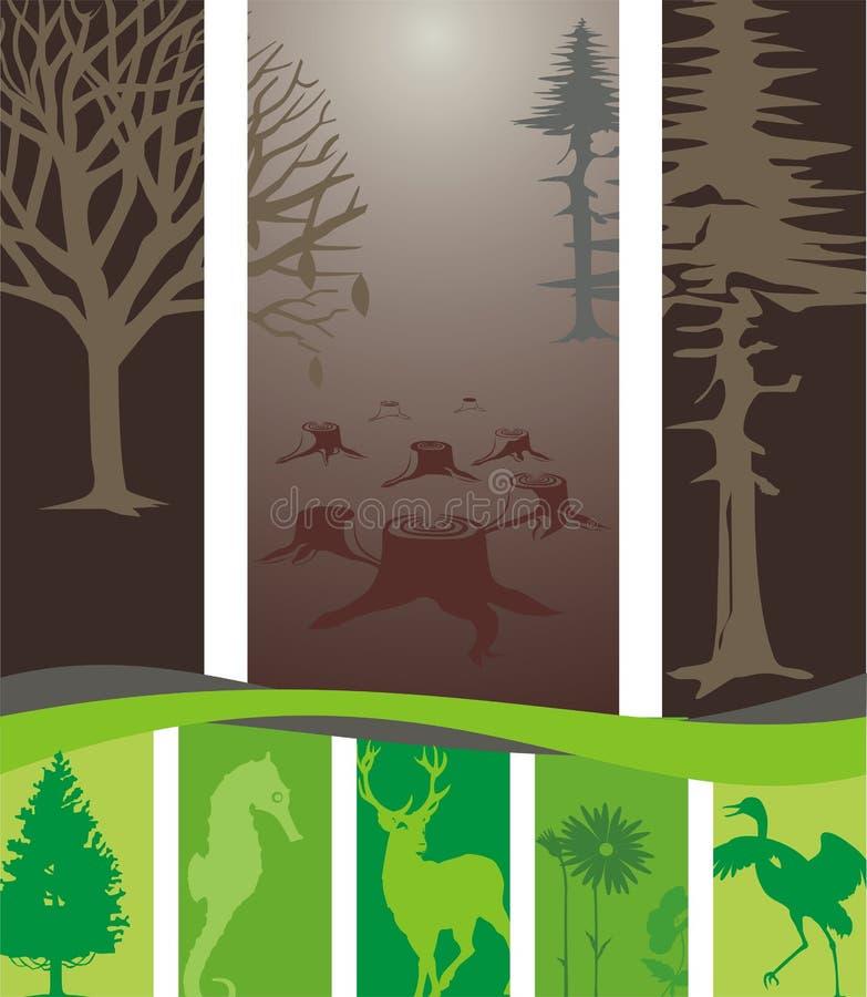 zniszczony środowisko ilustracja wektor
