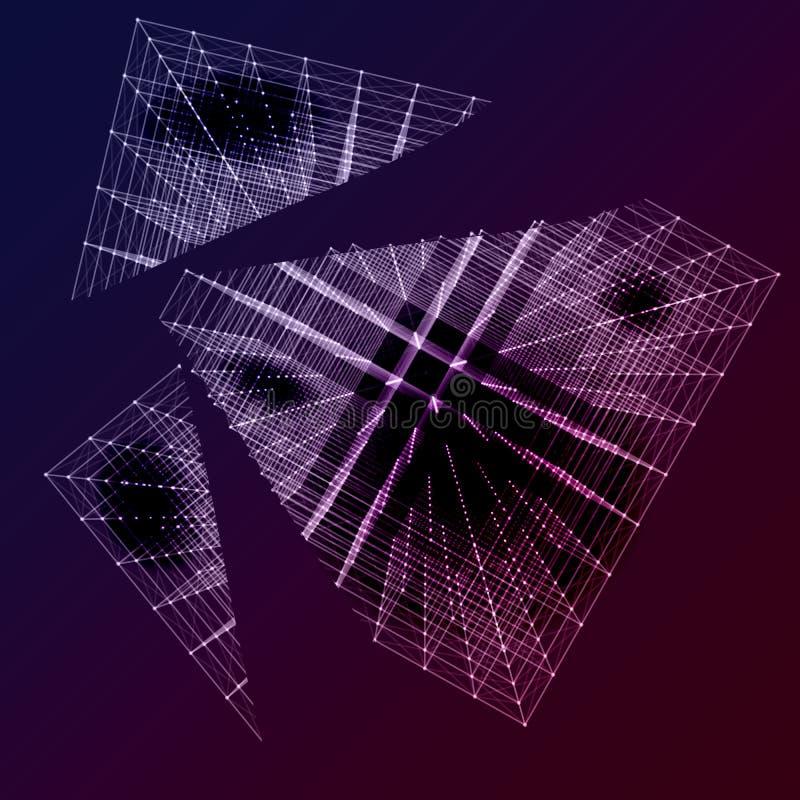 Zniszczony dane szyk abstrakcjonistyczny wykres ilustracja wektor