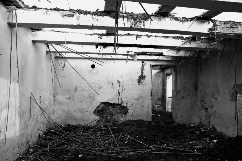 zniszczony dom zdjęcie stock